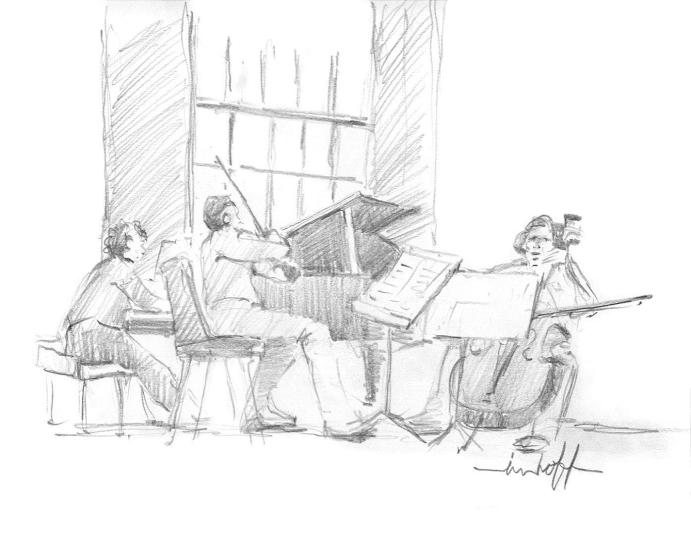 Chamber Music Drawing Drawing