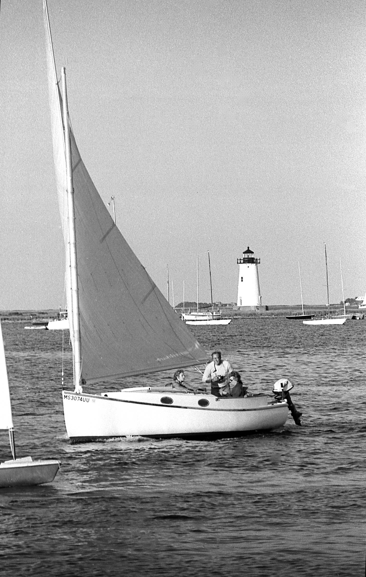 The Vineyard Gazette Marthas News A Catboat Finds Her Boat Wire Diagram 1971 Winner Under Sail