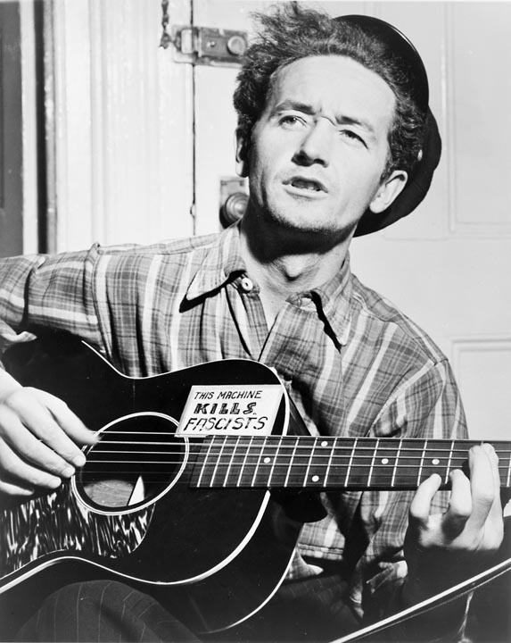 """woody guthrie Bob dylan wrote that woody guthrie's works """"had the infinite sweep of humanity in them"""" as he roamed the country singing such songs as """"bound for glory."""