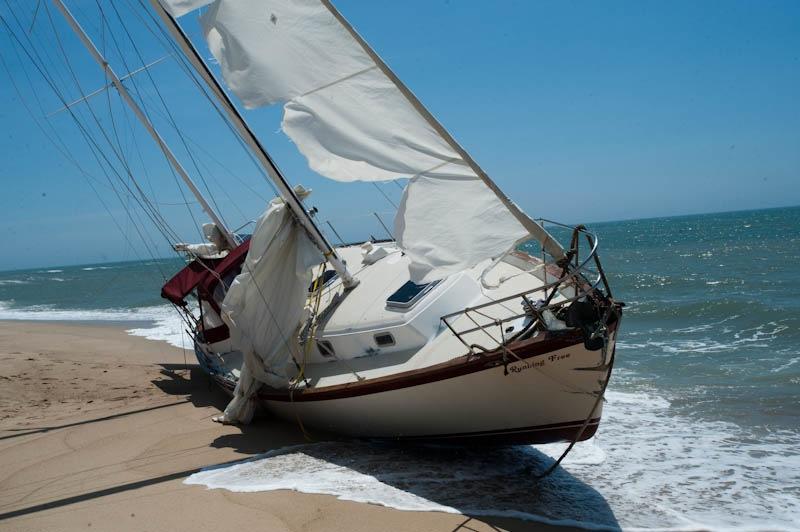 Sailboat was abandoned in Bermuda Triangle in May. — Mark Lovewell