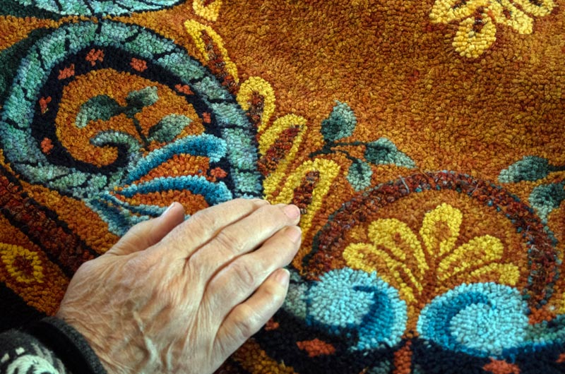 Ms Powell Recently Won Top Prize At The Celebration Of Hand Hooked Rugs