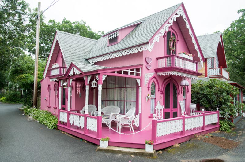 Camp Ground Pink House Is One Of A Kind The Vineyard