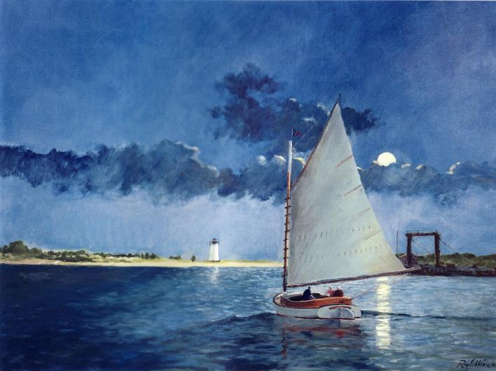sailboat painting
