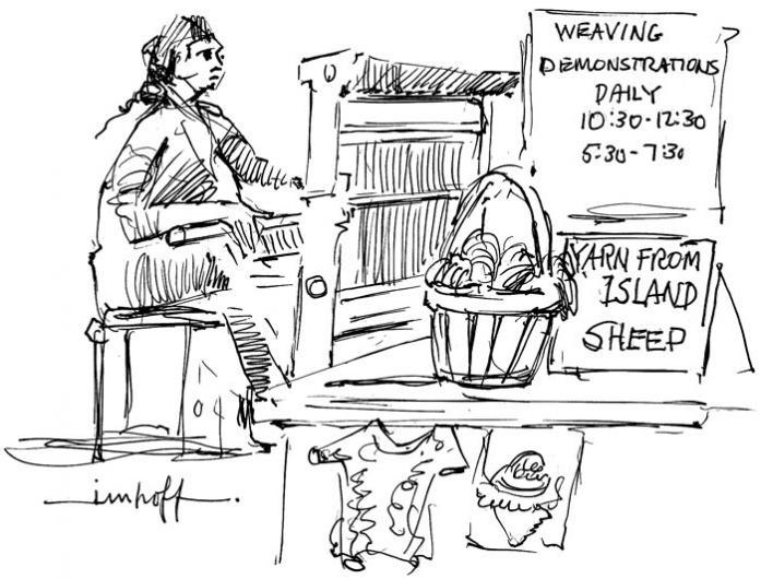 cartoon weaving