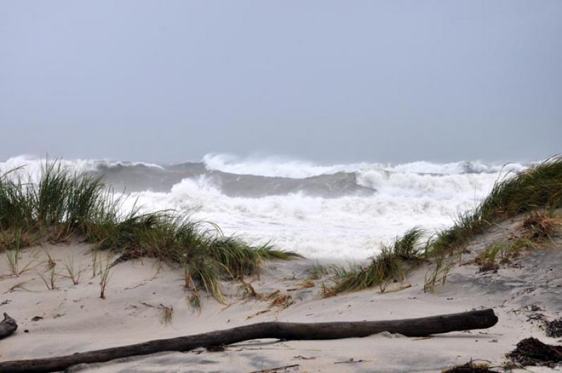 waves storm sand beach