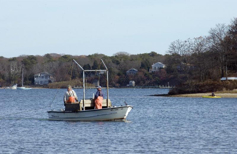 fishing boat lagoon shellfish