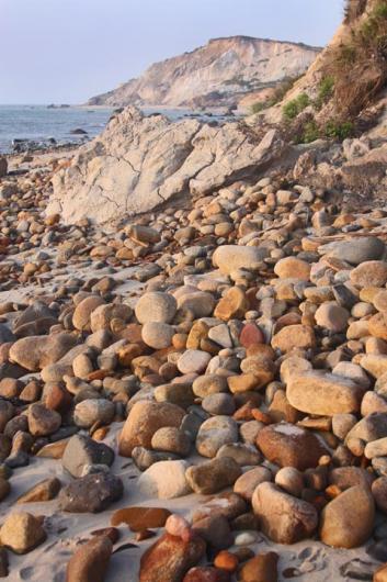 stones beach cliffs Aquinnah