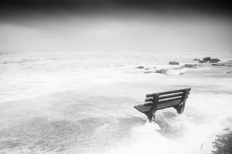 Lucy Vincent Beach bench waves