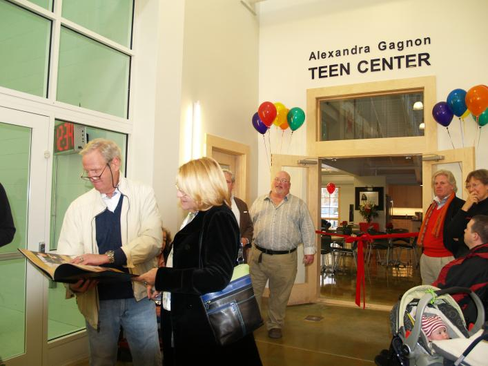 alexandra gagnon teen center ymca opening