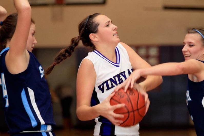 Junior Katie Stewart girls basketball