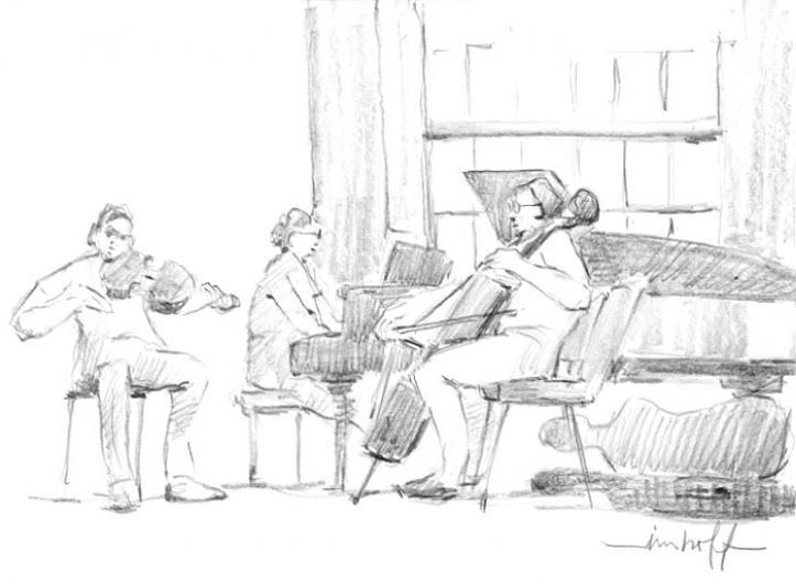illustration musicians violin cello cello