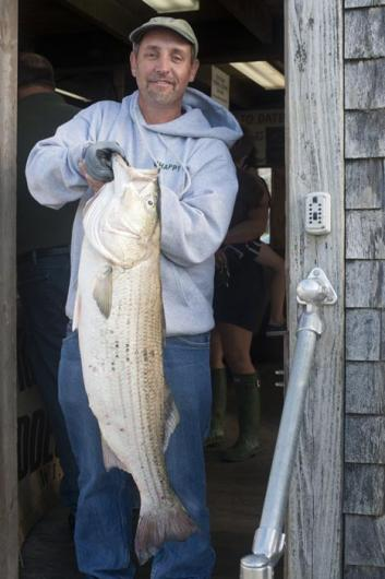 Don Sicard striped bass fisherman