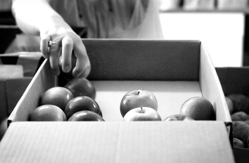 BW box apples