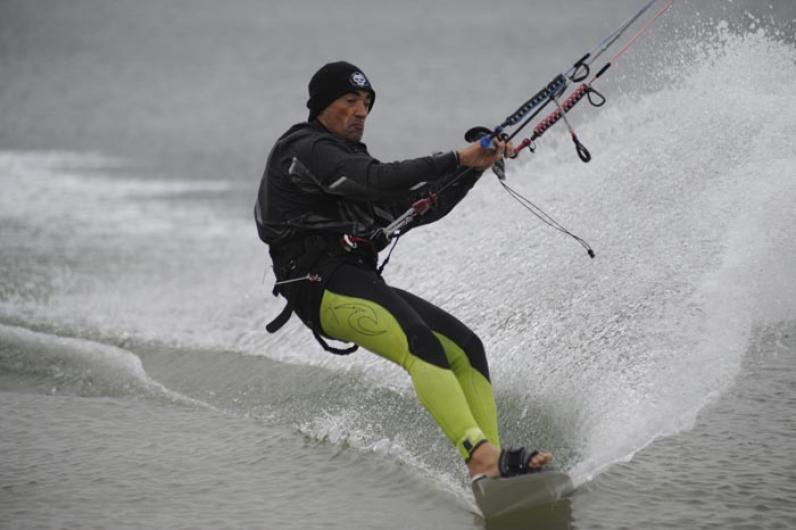 Sylvain Hoceini kiteboard