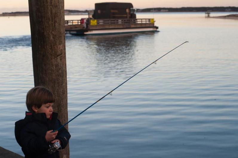 Zak Potter fishing rod ferry edgartown
