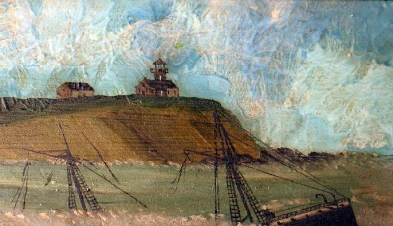 painting Gay Head shipwreck