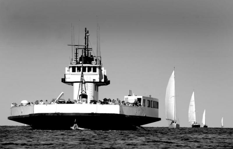 BW ferry sailboat