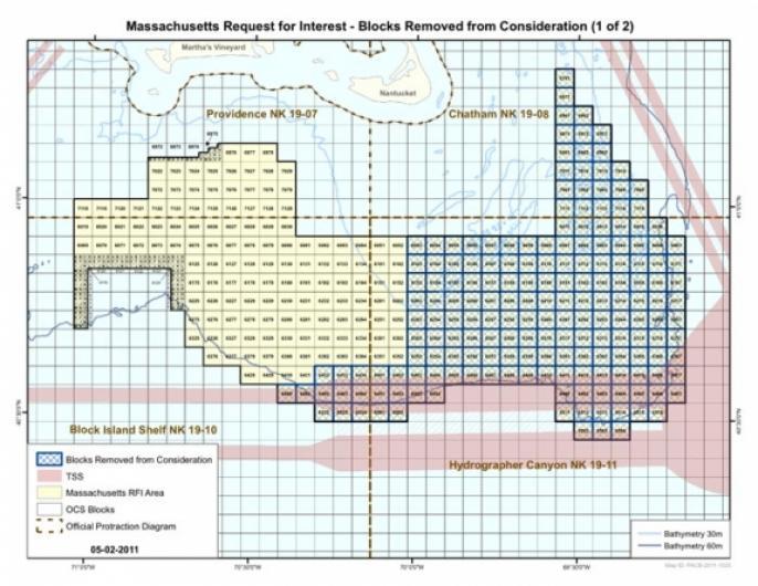 BOEM wind turbine map