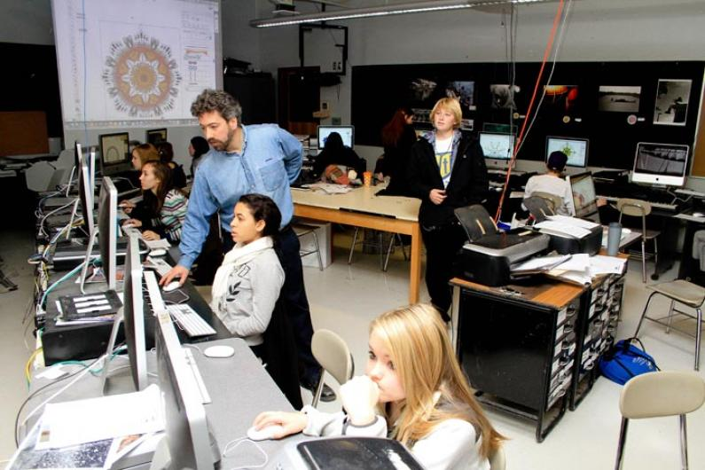 Chris Baer high school computer lab