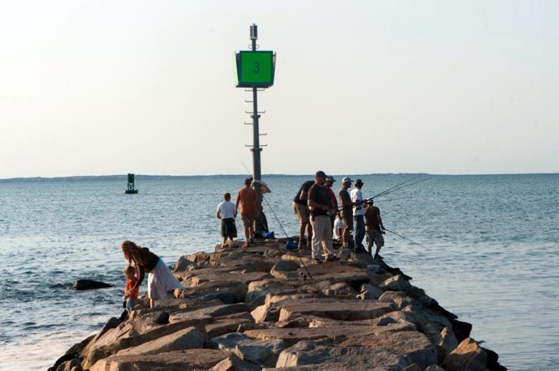 Fishing on Menemsha jetty