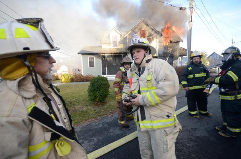firemen house burning