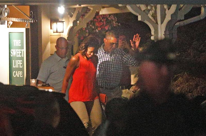 President Obama Martha's Vineyard vacation dinner
