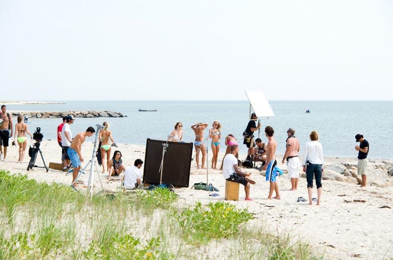 The Vineyard filmed on the beach
