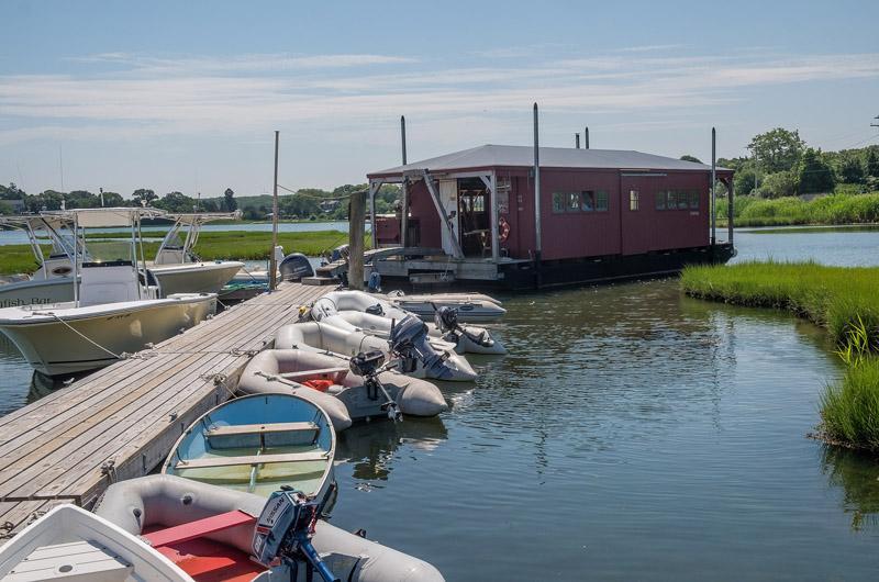 floating workshop in Vineyard Haven Harbor