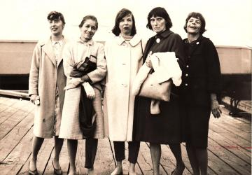Nancy Whiting, Peg Lillienthal, Virginia Mazer, Polly Murphy, Nancy Smith