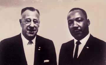 NAACP National President Kivie Kaplan and Martin Luther King Jr.