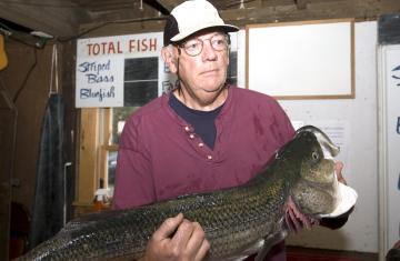 George Moran with striper