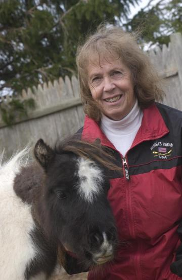 Sandy Grant and miniature horse