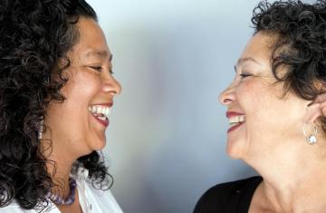 Berta Welch and Adriana Ignacio