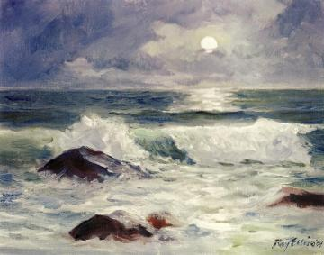 moonlit surf painting