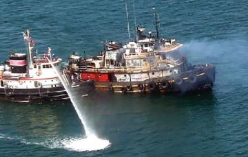 tugboat fire