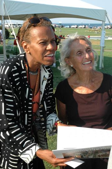 Andrea Taylor with poet Rose Styron