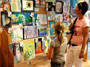 Junior art at the Ag Fair