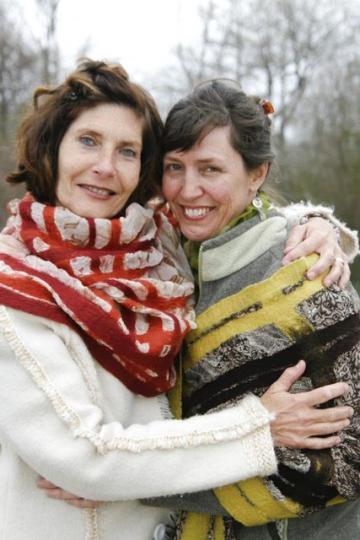 Joan Lelacheur and Heather Hall smile