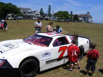 race car.