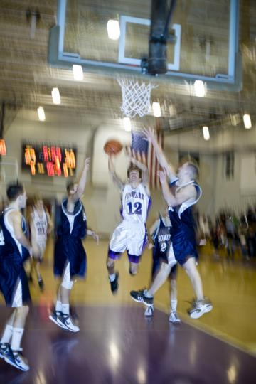Mark Reppert goes for the net