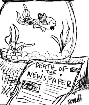 death of newspaper