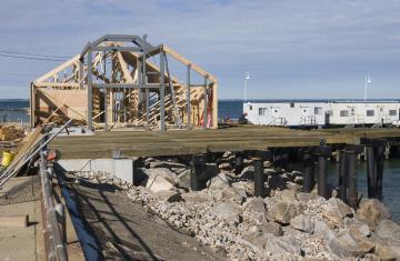 Oak Bluffs SSA terminal construction