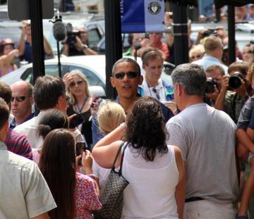President Barak Obama crowd