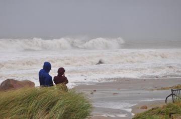 beach waves storm
