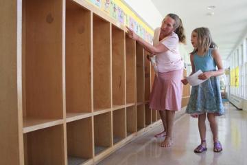 Robin Smith Allie Keefe cubbies elementary school