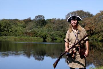 Steve Boyleston reenactor musket costume
