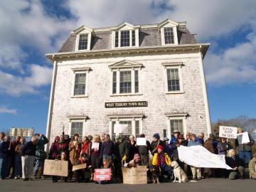 protesters west tisbury town