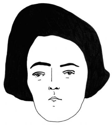 BW illustration face woman