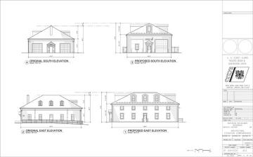architectural drawings BW