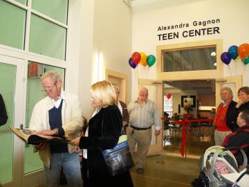 alexandra gagnon teen center ymca opening